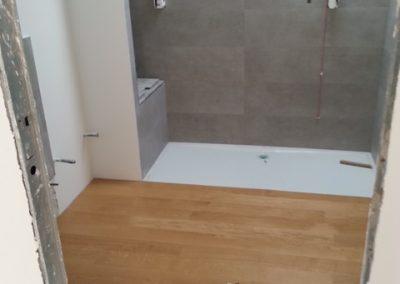 pavimento bagno legno