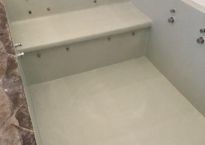vasca bagno in resina