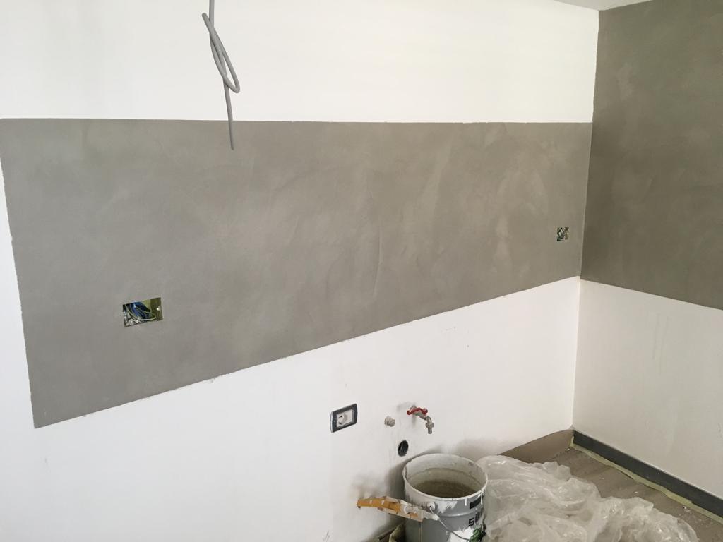 Cucina con pareti in resina – spatolato   Il Posatore