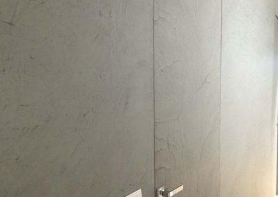 decorazione muro resina
