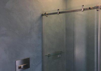 parete doccia bagno in resina+
