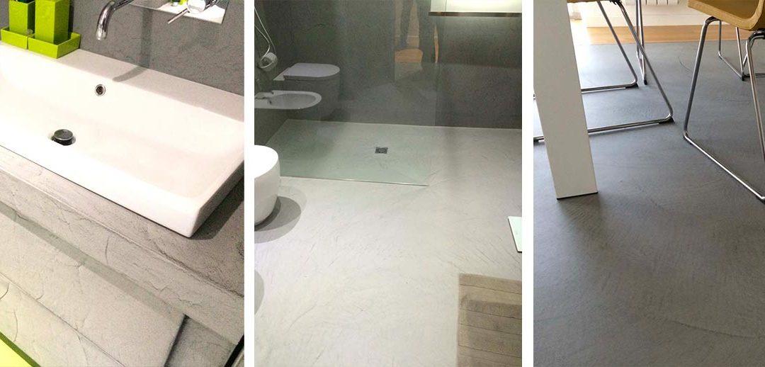 Realizzazione interni casa: pavimento, pareti e mobili in resina decorativa