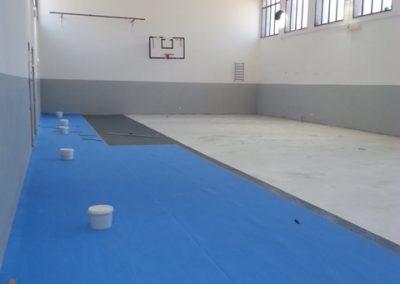 Realizzazione pavimento in gomma