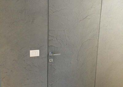 porta e parete in resina