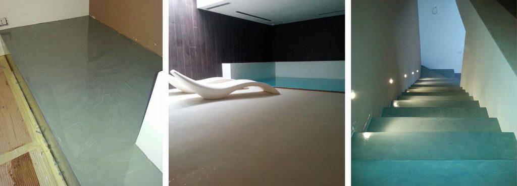 scala bordo piscina resina