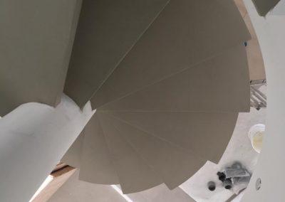 scala con rivestimento in resina