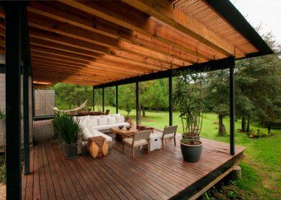 veranda con pavimento legno